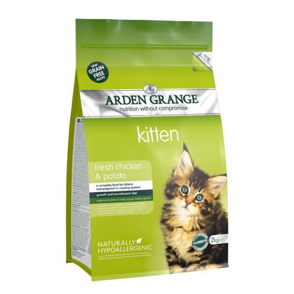 Arden Grange Kitten with fresh Chicken & Potato grain free 2 kg