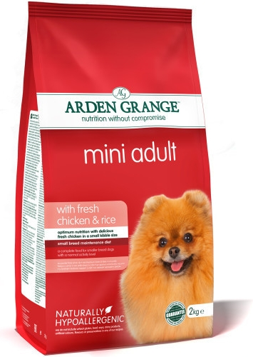 Arden Grange Mini Adult rich in fresh Chicken & Rice 2 kg
