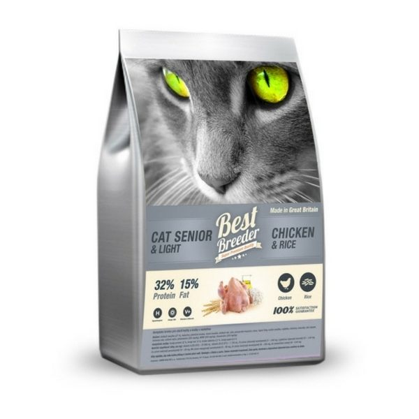 Best Breeder Senior Cat / Light Rich in Chicken and Rice 2 kg