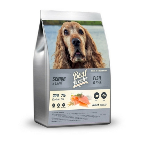 Best Breeder Senior / Light Fish & Rice 12 kg