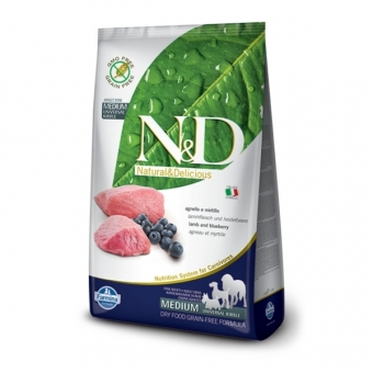 ND Grain free dog adult lamb 12kg