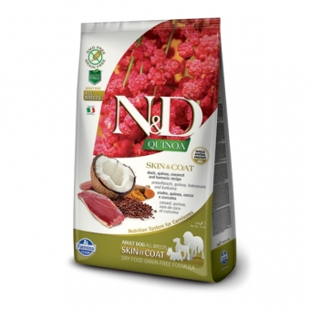 ND Grain Free Quinoa DOG Skin and Coat Duck and Coconut 2,5 kg