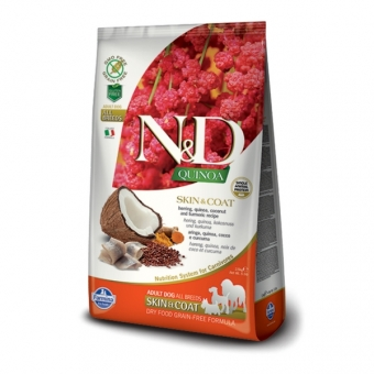 ND GF Quinoa DOG Skin and Coat Herring and Coconut 2,5 kg