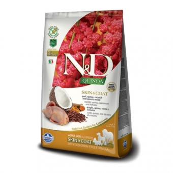 ND GF Quinoa DOG Skin and Coat Quail and Coconut  2,5 kg