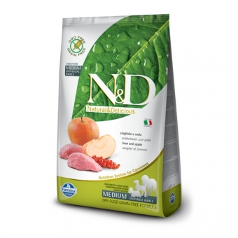 N&D  Grain-Free DOG Adult Boar & Apple