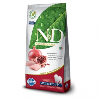ND Grain-Free DOG Adult Maxi Chicken and Pomegranate