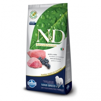ND Grain-Free DOG Adult Maxi Lamb and Blueberry