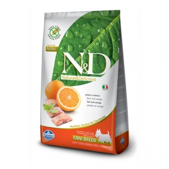 N&D  Grain-Free DOG Adult Mini Fish & Orange