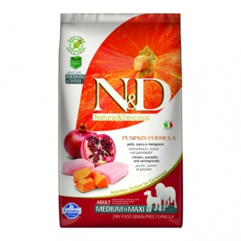 ND Grain Free Pumpkin DOG Adult M-L Chicken and Pomegranate