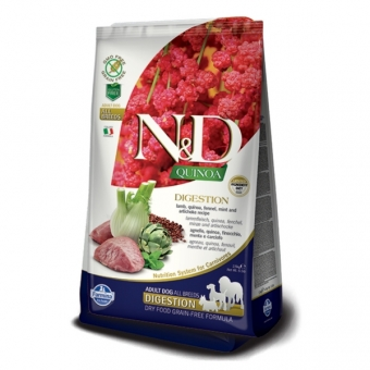 ND Grain Free Quinoa DOG Digestion Lamb and Fennel 2,5 kg