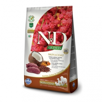 ND Grain Free Quinoa DOG Skin and Coat Venison and Coconut 2,5 kg