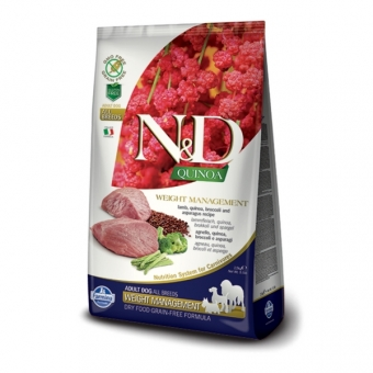 N&D  Grain Free Quinoa DOG Weight Management Lamb & Broccoli