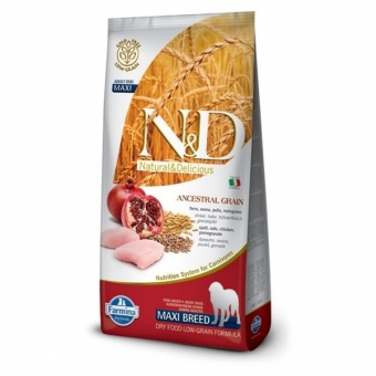ND Low Grain DOG Adult Maxi Chicken and Pomegranate