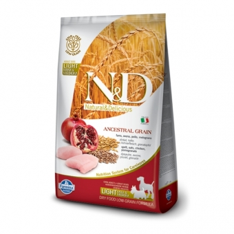 ND Low Grain DOG Light SM Chicken and Pomegranate 2,5 kg